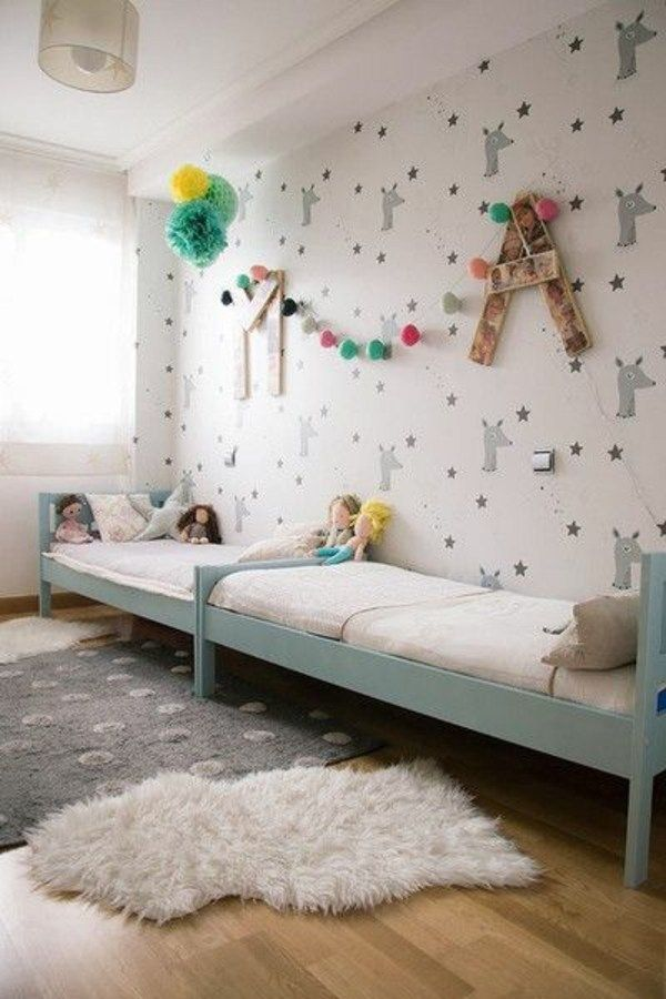 kinderzimmer gestalten tolles kinderzimmer f r zwei m dchen schlafzimmer bedroom pinterest. Black Bedroom Furniture Sets. Home Design Ideas