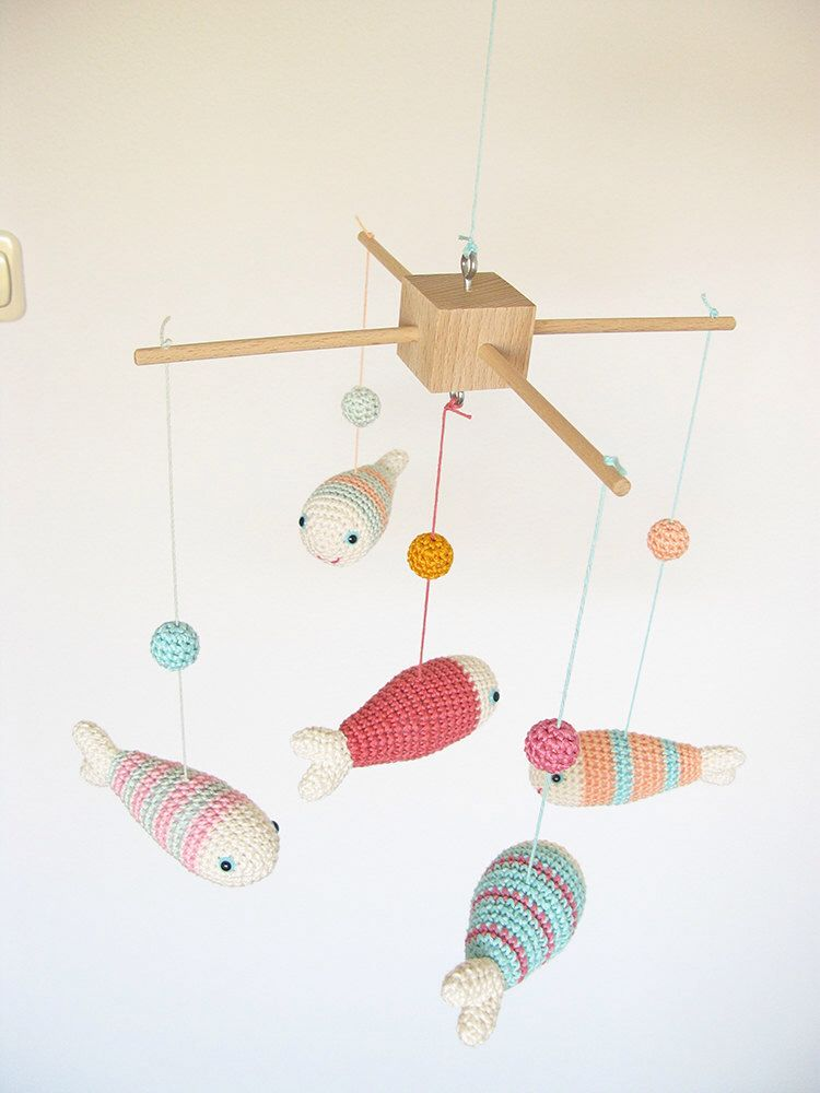 Items Similar To New Clouds And Gold Rain Drops Mobile Baby Nursery Crochet Decor Custom Colors On Etsy