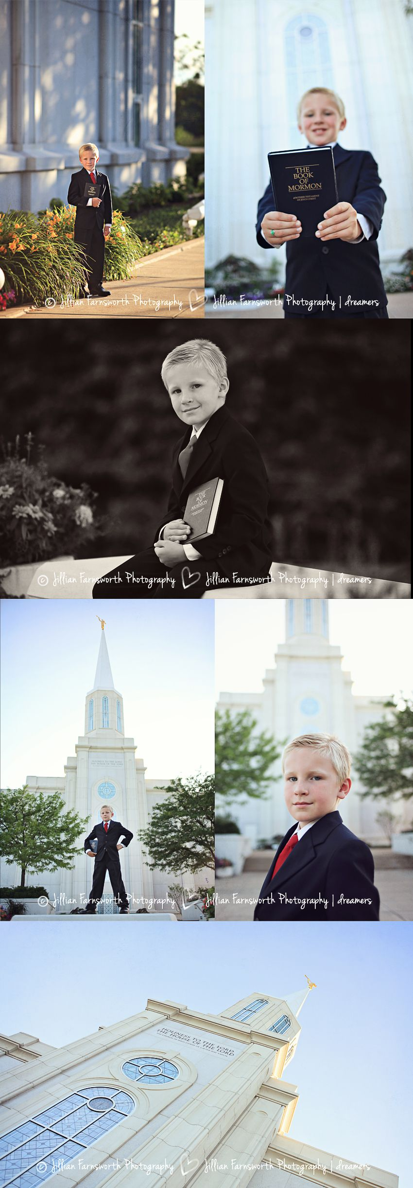 LDS 8 year old baptism portraits by Jillian Farnsworth. Taken at ...