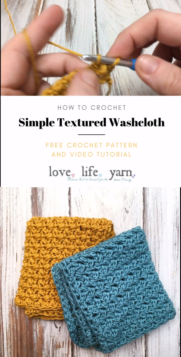 Photo of How to Crochet a Simple Textured Washcloth