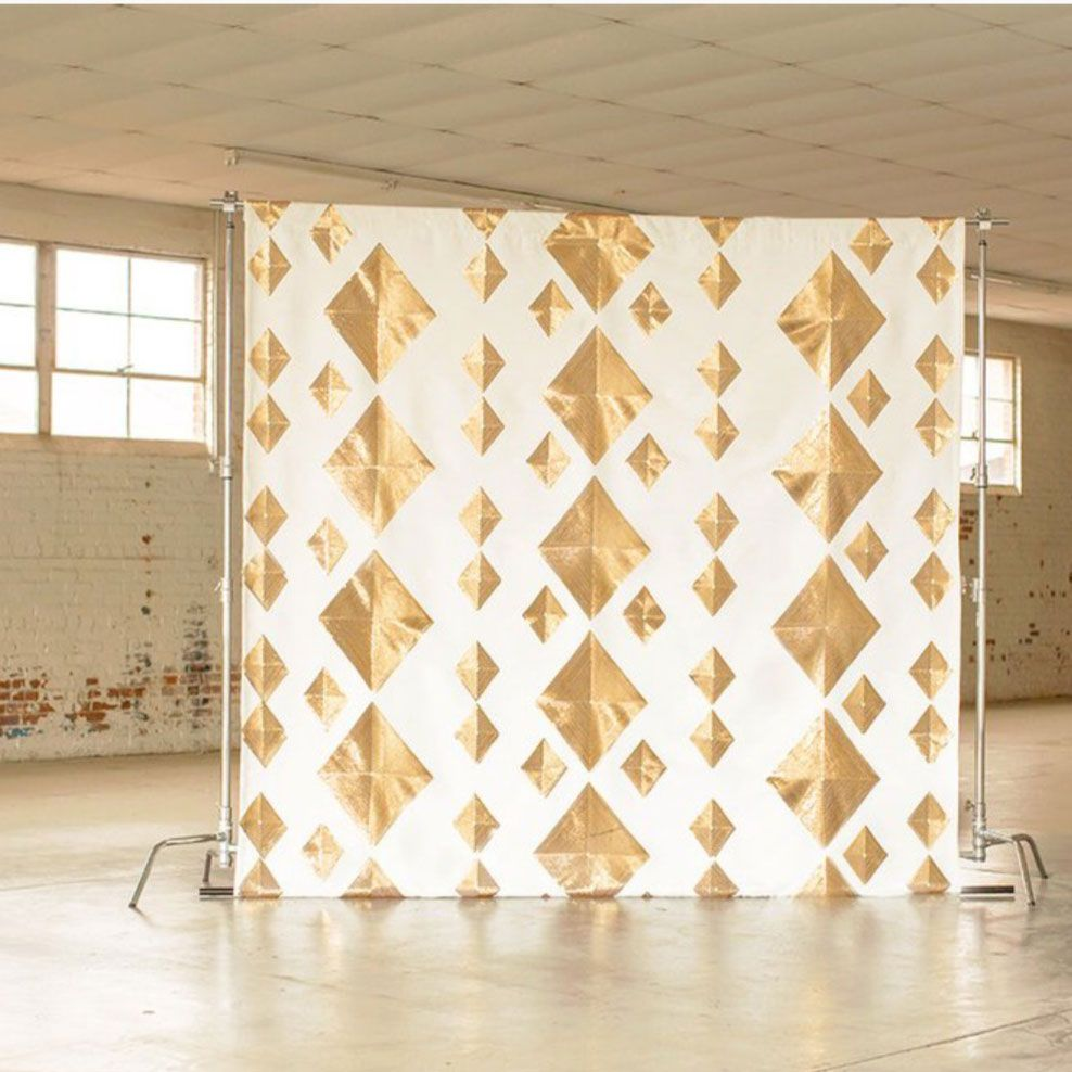 Diamond Pattern Gold Sequins. backdrop from Foto