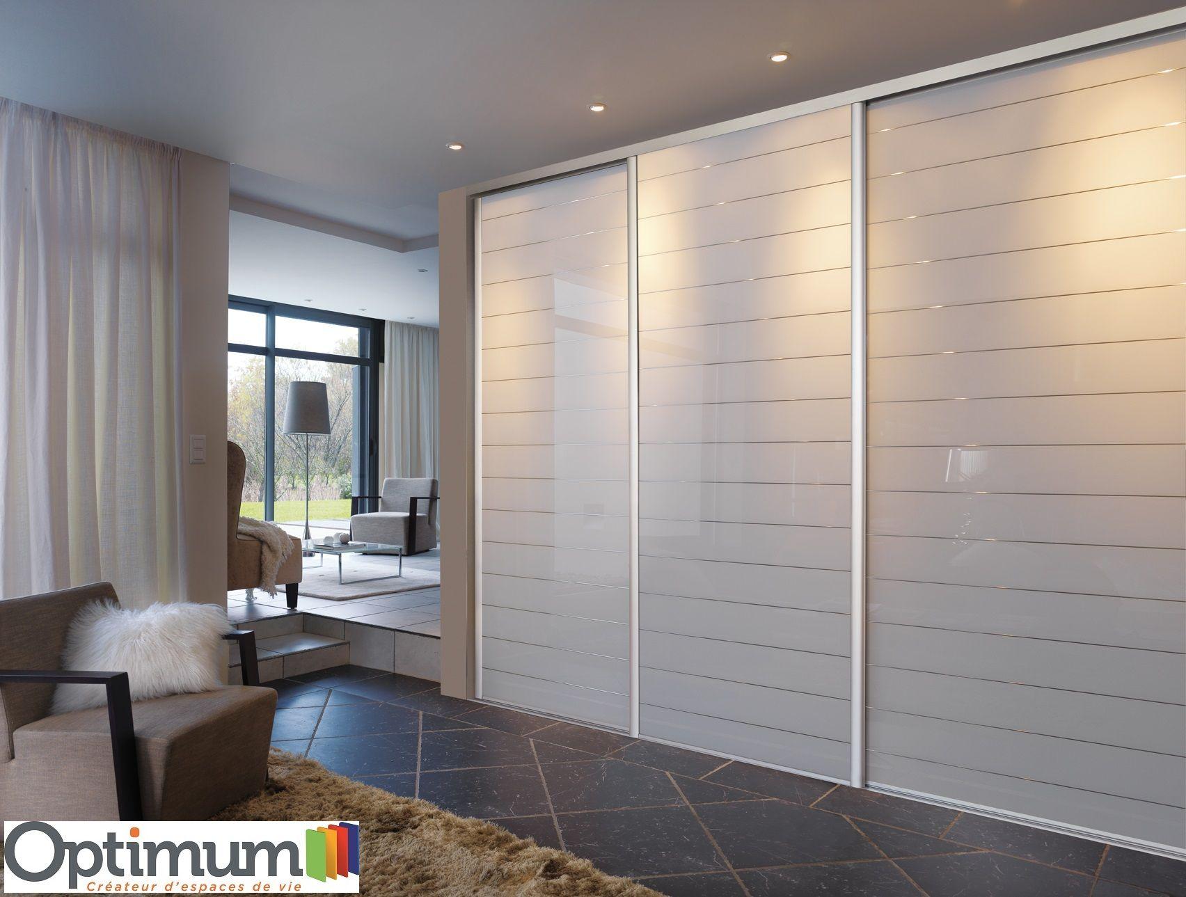 portes de placard optimum verre laque