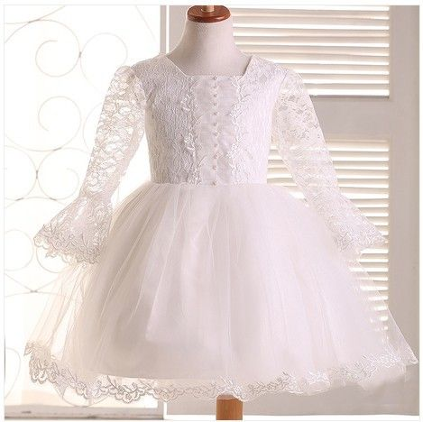 Cheap dress aubergine, Buy Quality dress turquoise directly from China dress pants for short men Suppliers: is_customized:Yes  New Vestido batizado,Ivory christening gowns,Lace sleeve Baby wedding dress/flower girl dresses,vesti