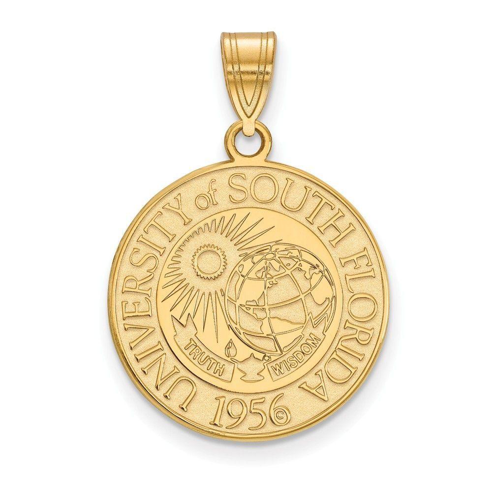 925 Sterling Silver Rhodium-plated Laser-cut Northwestern University Medium Crest Pendant