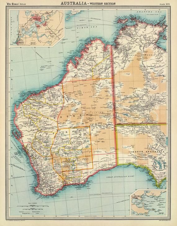 Large Map Of Australia.Map Of Australia Western Australia Map Old Map Print Wall Map