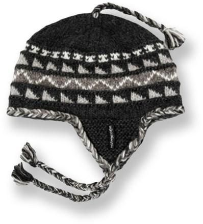 8a4936c7dbe This wool Everest Designs Sherpa earflap hat is handcrafted by women s  knitting cooperatives in Nepal.