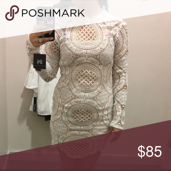 White lace dress It is a beautiful long sleeve dress size 7! Dresses Long Sleeve