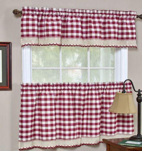 Parker Curtain Valance Tier Set Cortinas Para Cocina Cortinas