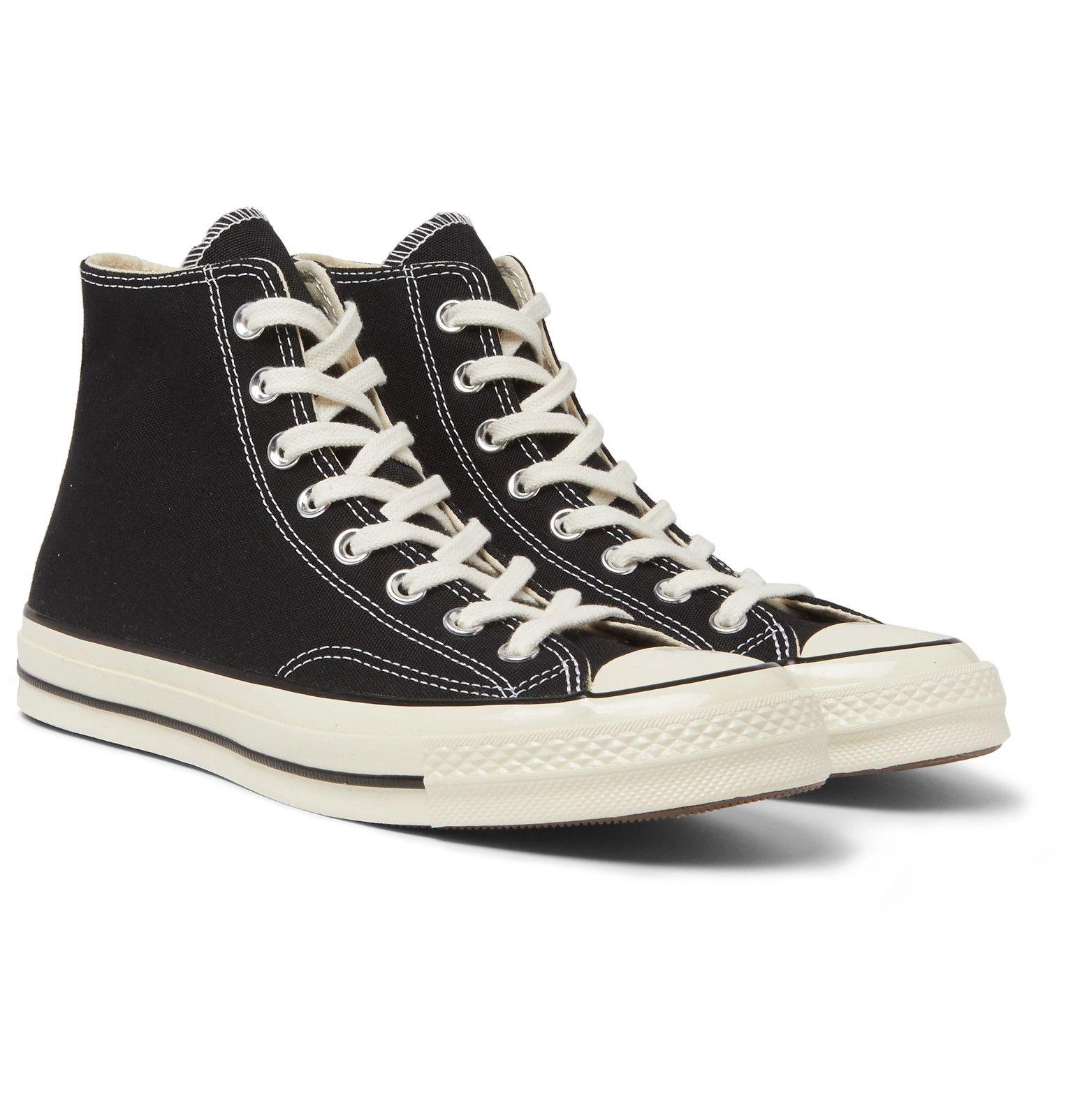 Black Chuck 70 Canvas High-Top Sneakers