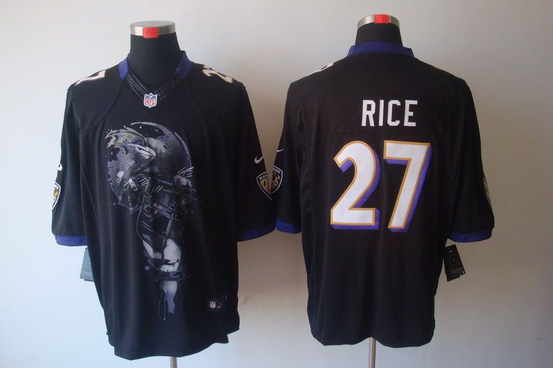 Black Ray Rice Jersey, Nike Baltimore Ravens #27 Mens Helmet Tri-Blend Limited NFL Jersey  $23