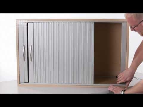 Installing A Double Horizontal Tambour Door With Top Track Plastic Storage Cabinets Diy Door Door Repair