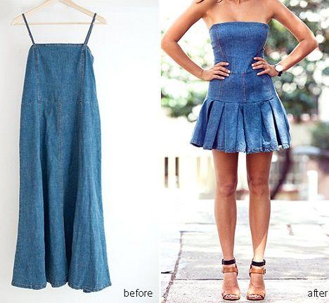 Como hacer vestido de jeans