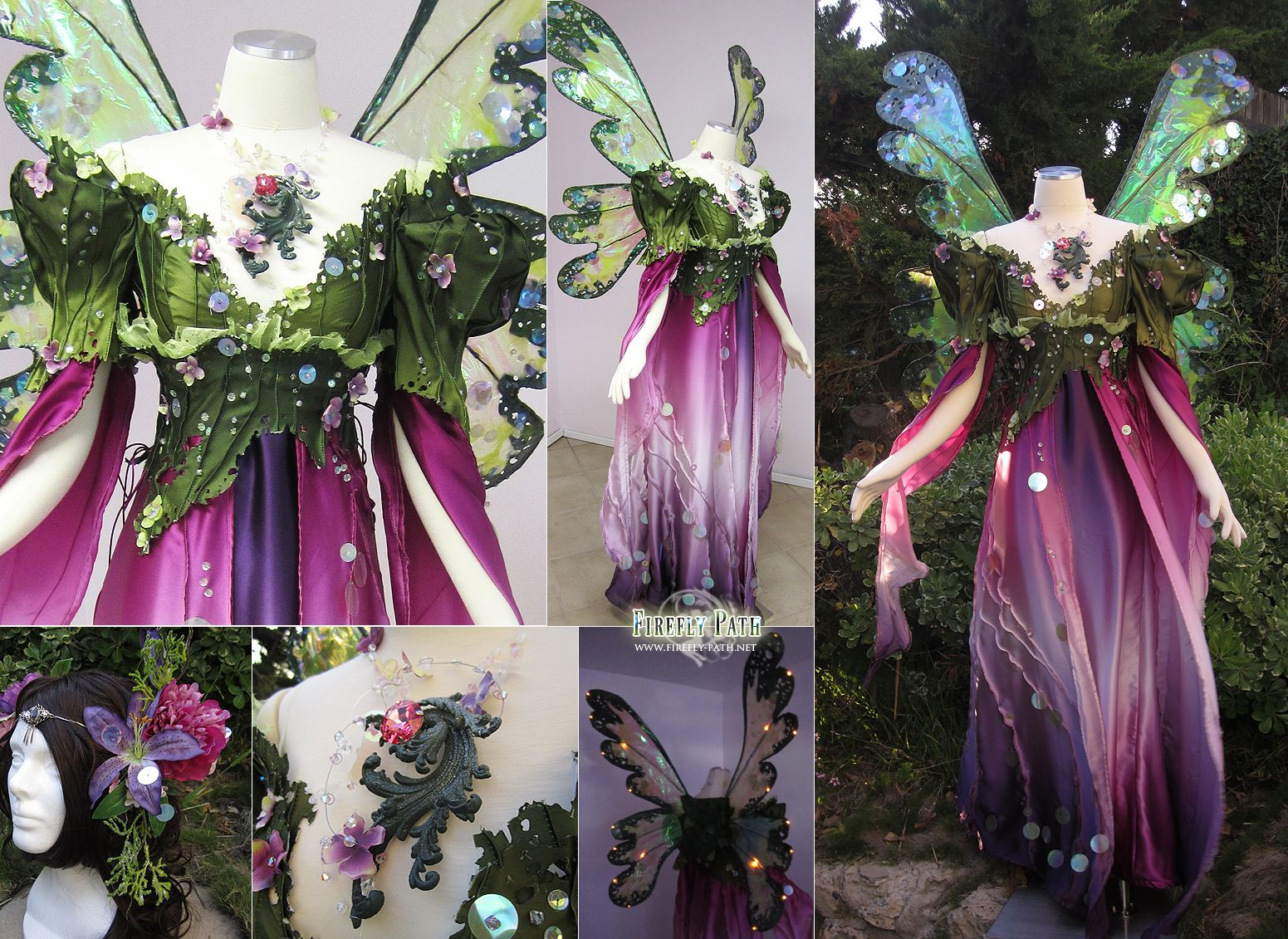 Flower inspired fairy gown fairy tale wedding dress for Fairy inspired wedding dresses