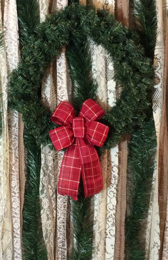 Mini Cherry Red Plaid Christmas Bow Small Wreath Bow By Custombowsbyjami On Etsy Christmas Bows Gift Bows Handmade Ornaments