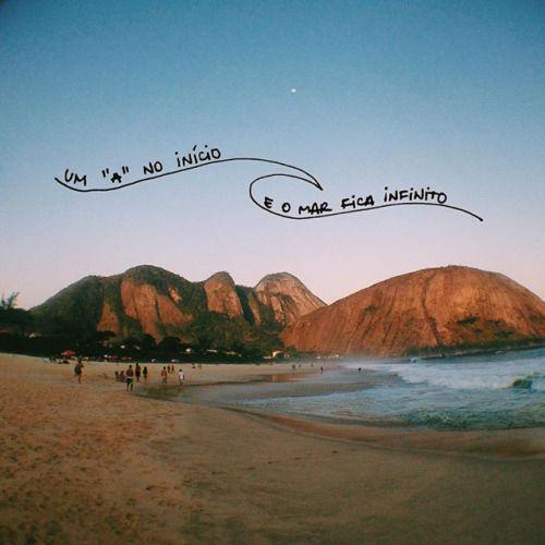Imagem De Beach Mar And Praia Frases Praianas Frases