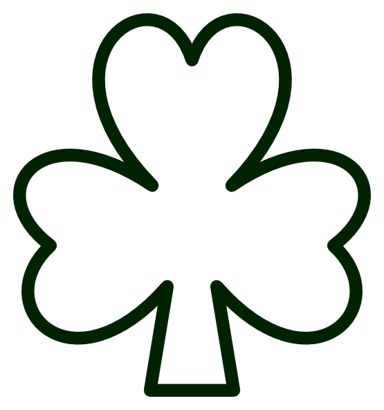 St Patricks Day Black And White Clipart In 2020 Shamrock Template St Patricks Day Crafts For Kids St Patricks Crafts