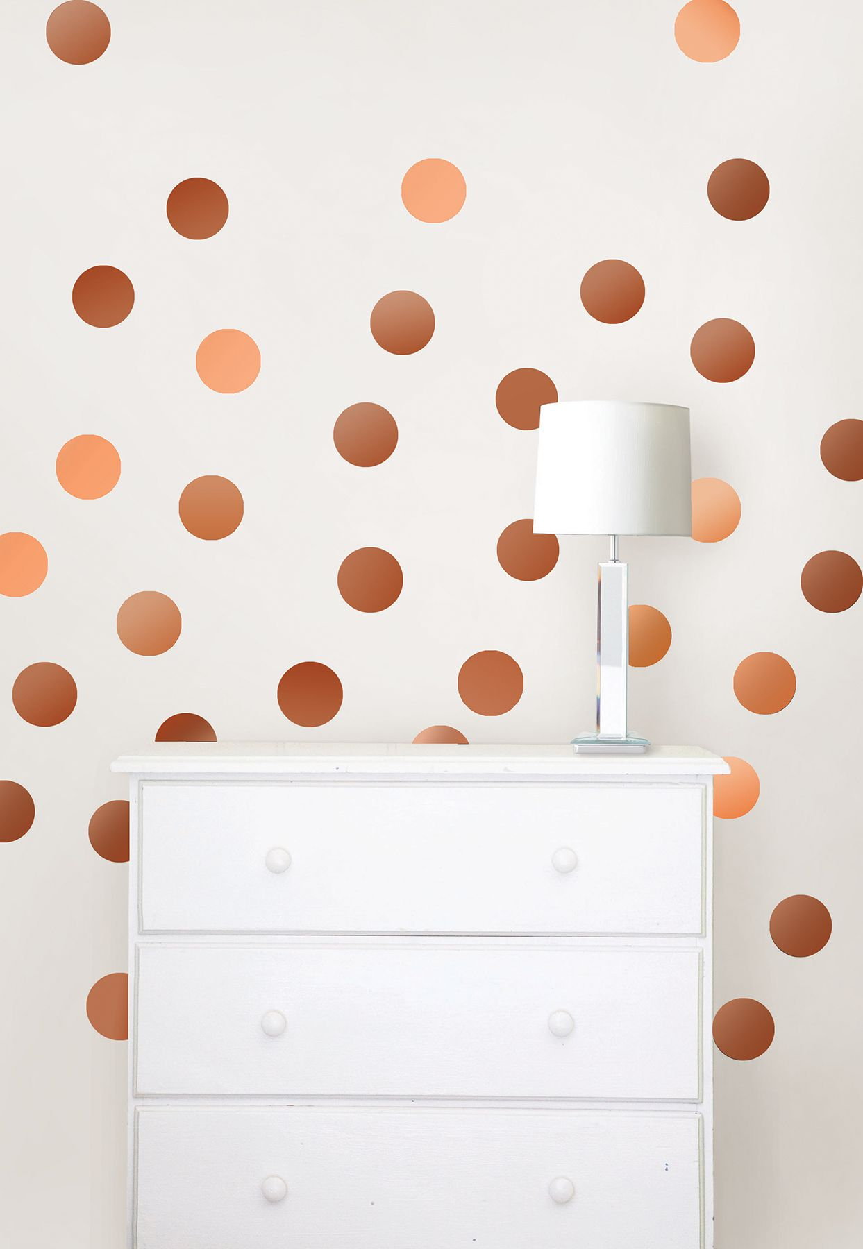 These glistening confetti dots are ultra stylish! Radiating a ...