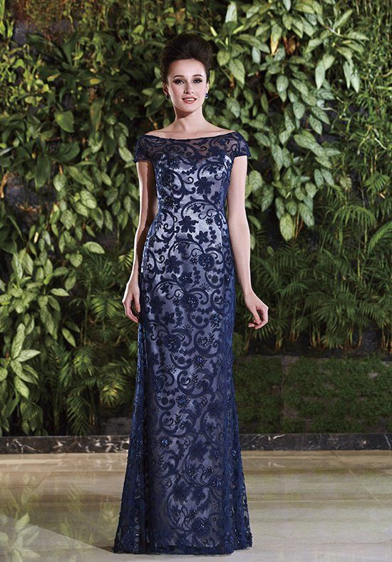 Malay Satin modified mermaid gown with contrasting beaded lace ...