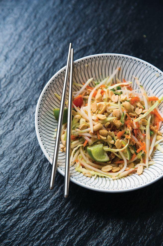Thai Green Papaya Salad Som Tum Livre Book Cuisine