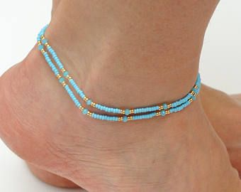 anklet anklets for qrnu gifts boho gold triangle etsy beach her il market