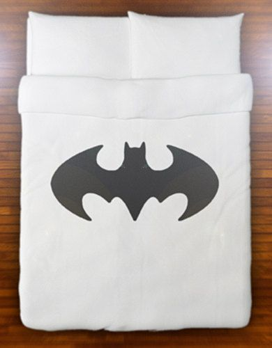 Batman Duvet Cover Bedding Retro Bat Logo Sign Queen King Twin ...