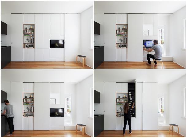 Apartamento peque o con mueble almacenamiento for Muebles para un apartamento pequeno