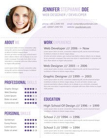 modern psd resume template - Fashion Design Resume Template