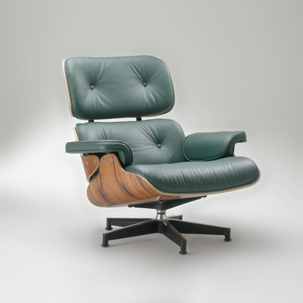 Charles and Ray Eames • Eames Lounge Chair and Ottoman, 1956 | 100 ...