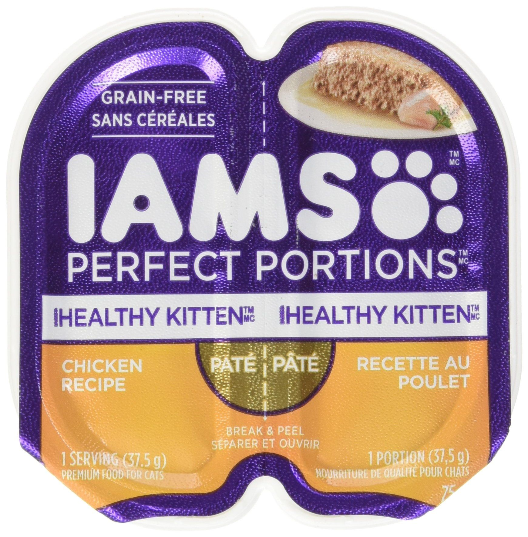 Iams Healthy Kitten Grain Free Wet Cat Food Chicken Pate 2 6 Oz 24 Twin Packs Want Additional Info Click On The Image Canned Cat Food Wet Cat Food Food