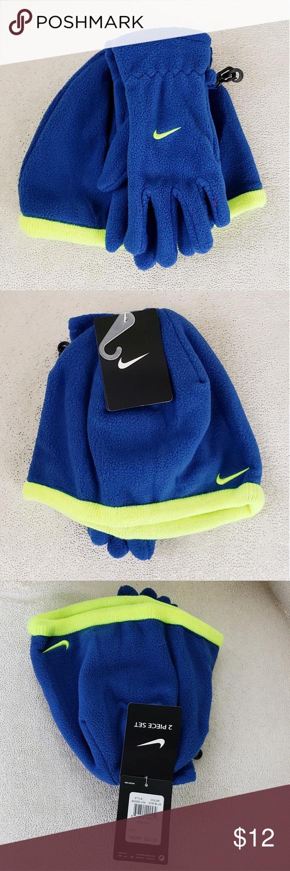 14d4ff03e2e Kid s Nike 2-piece Hat and Glove Set Nike fleece beanie hat and glove set