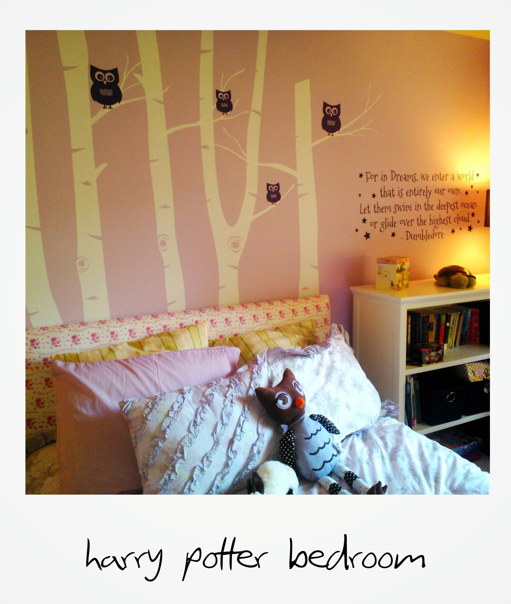 Harry Potter Girls Bedroom Combination Of Etsy For Wall Decals