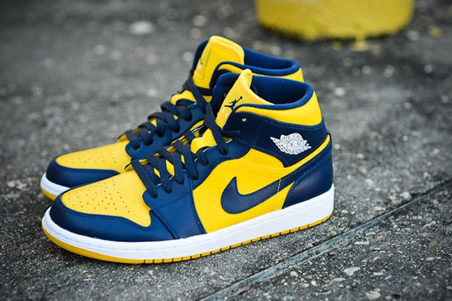 Air Jordan 1 Mid Michigan Eu Kicks Sneaker Magazine Sneakers Men Fashion Air Jordans Sneakers Fashion