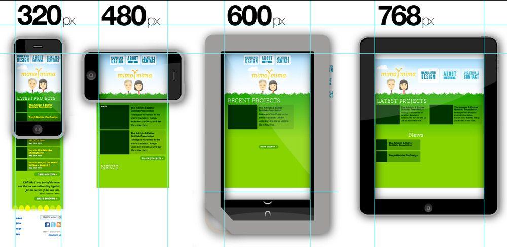 Illustrator Responsive Design Template Mimoymima Responsive Design Responsive Design Template Web App Design
