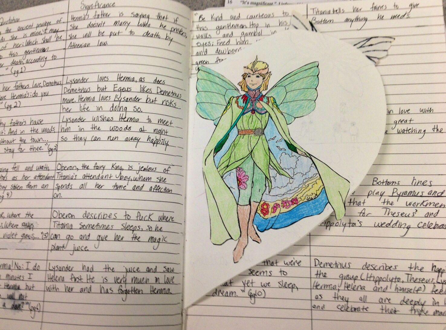 A Midsummers Night Dream Dialectical Journal High School Literature Interactive Student Notebooks Teacher Inspiration