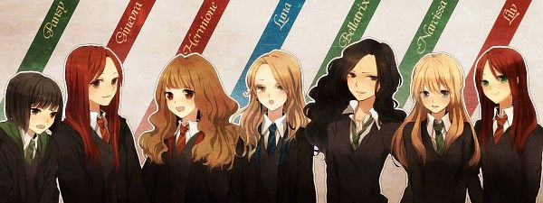 harry potter ladies anime pansy parkinson ginevra weasley