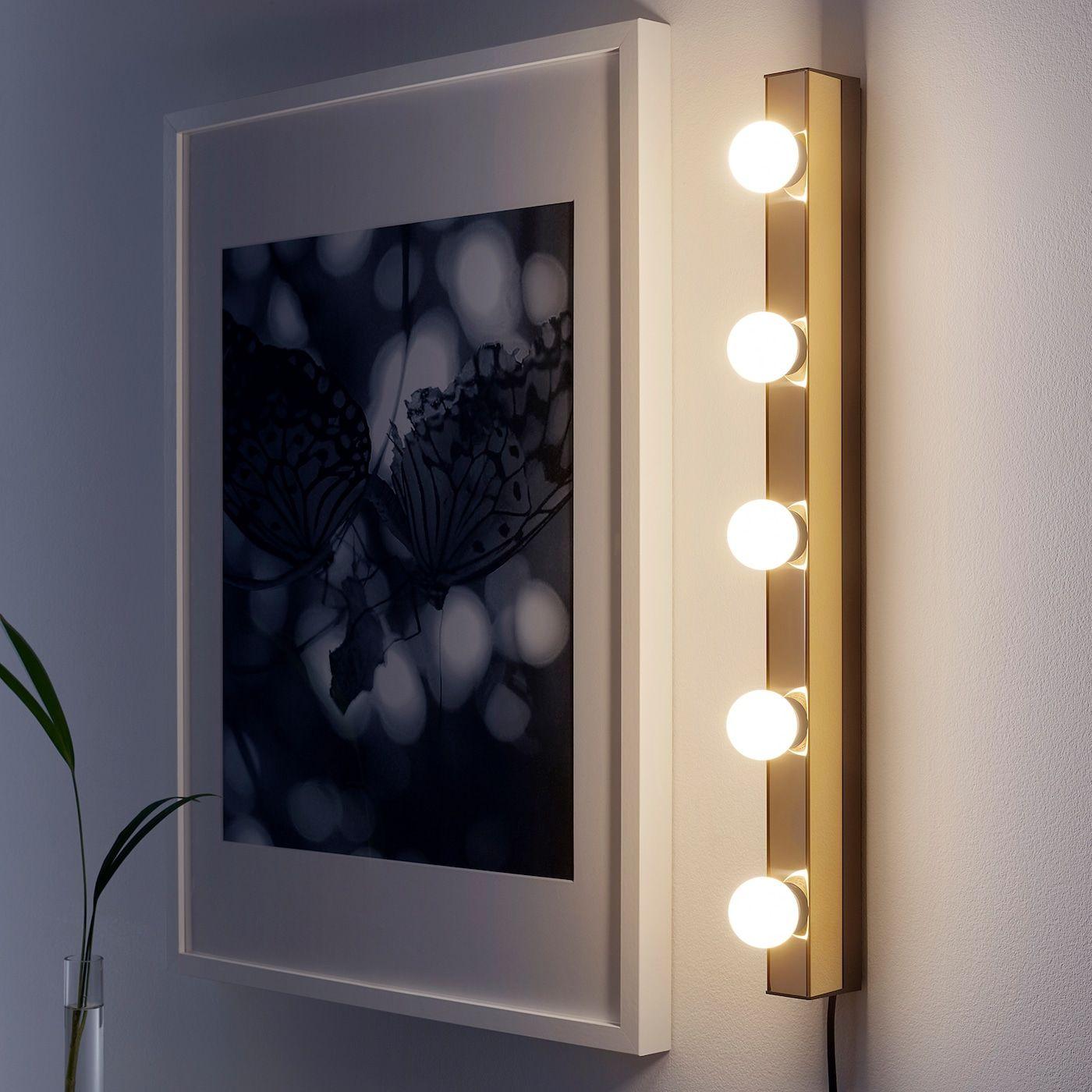 Musik Brass Colour Wall Lamp Ikea Wall Lamp Led Wall Lamp Clear Light Bulbs