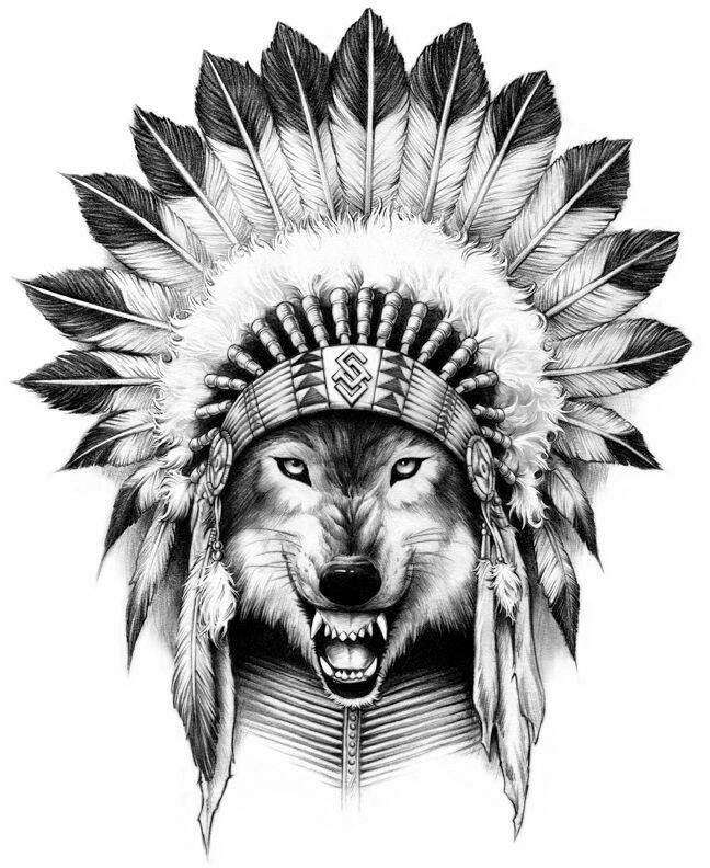 Картинка нарисованная медведь индеец