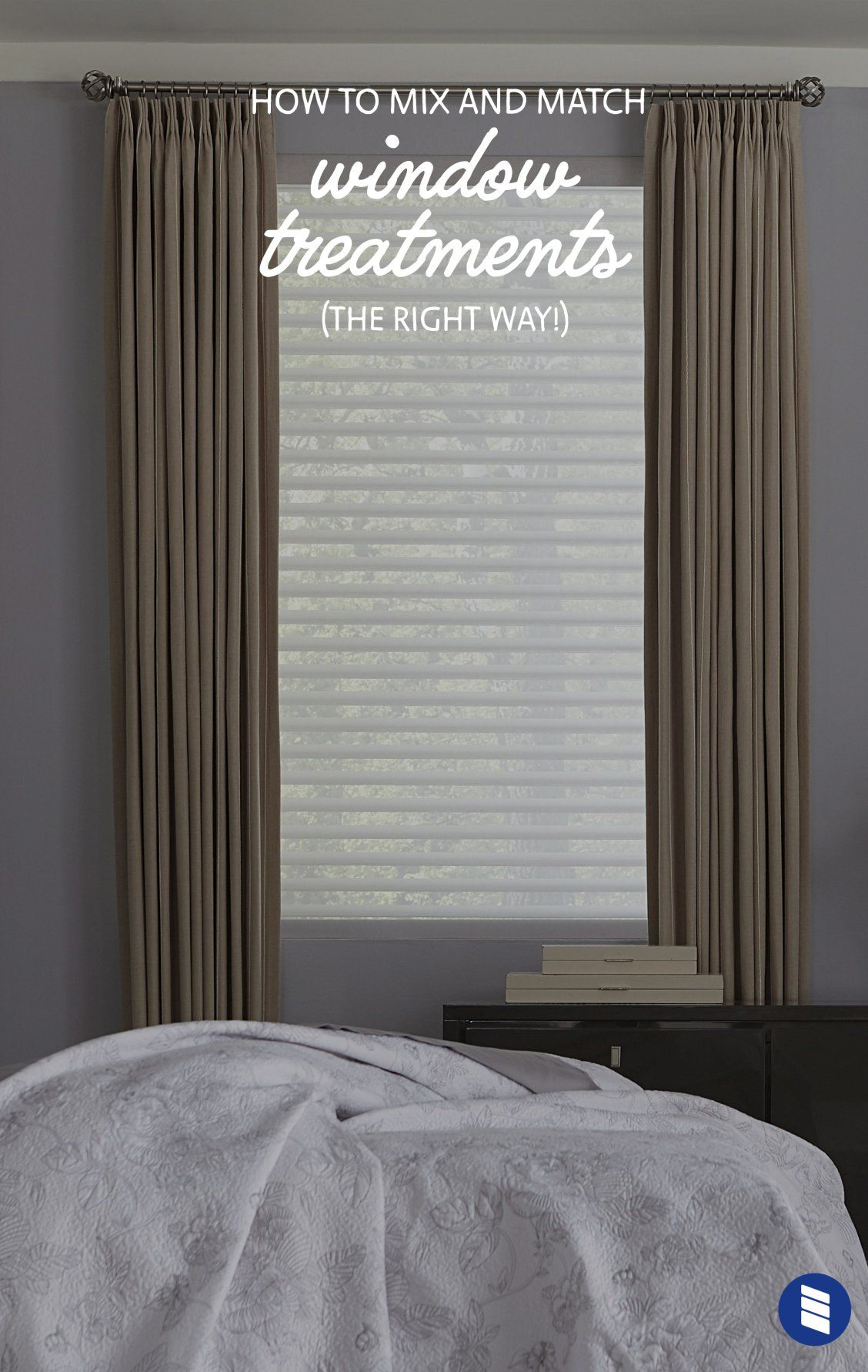 How To Layer Window Treatments Blinds Com Curtains And Blinds Together Curtains With Blinds Bedroom Curtains With Blinds