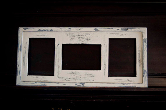 Collage Picture Frame Multi 3 Opening 5x7 Distressed Collage
