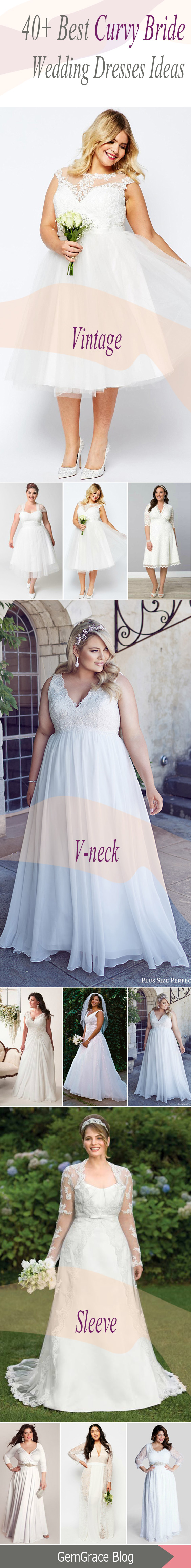 of the most gorgeous plus size wedding dress for curvy bride
