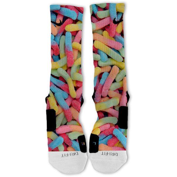 Gummy Worms Custom Nike Elite Socks