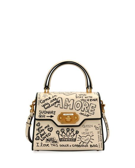 ad3b71acbfa2 DOLCE   GABBANA Welcome Amore Graffiti Medium Handbag