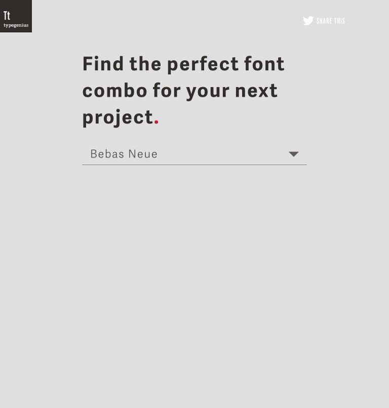 Type Genius - Finf the perfect font combo Fonts  Typography