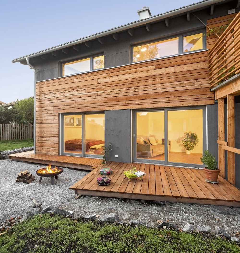 Architektenhaus bauen in Holzbauweise