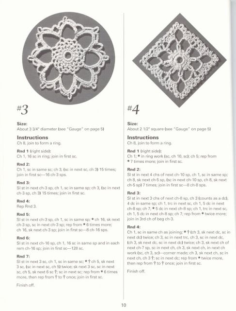 crochet motifs | Solo patrones crochet y dos agujas | Pinterest ...