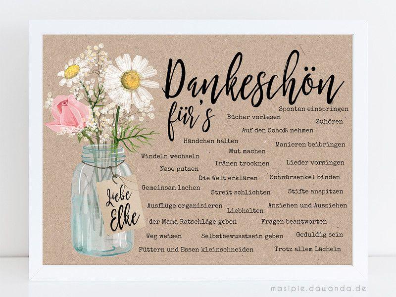 Drucke Plakate Abschiedsgeschenk Erzieherin Mit Name