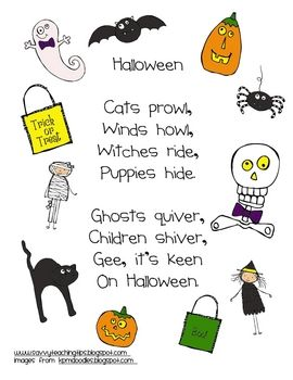 A SIMPLE HALLOWEEN POEM | Halloween poems, Halloween poems for kids,  Halloween elementary