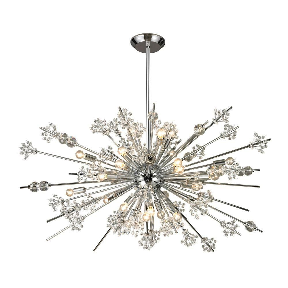 Titan Lighting Tracera Collection 29 Light Polished Chrome Chandelier