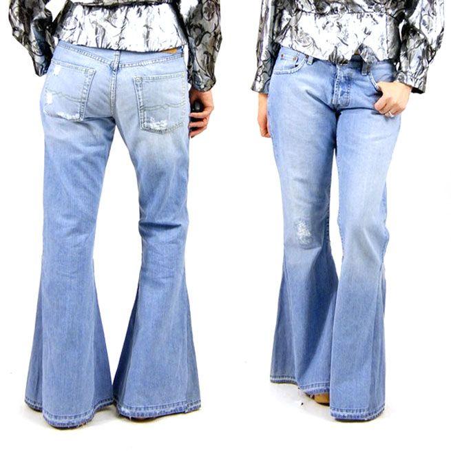 Elephant leg (bell bottom) jeans these were the true bell bottom ...
