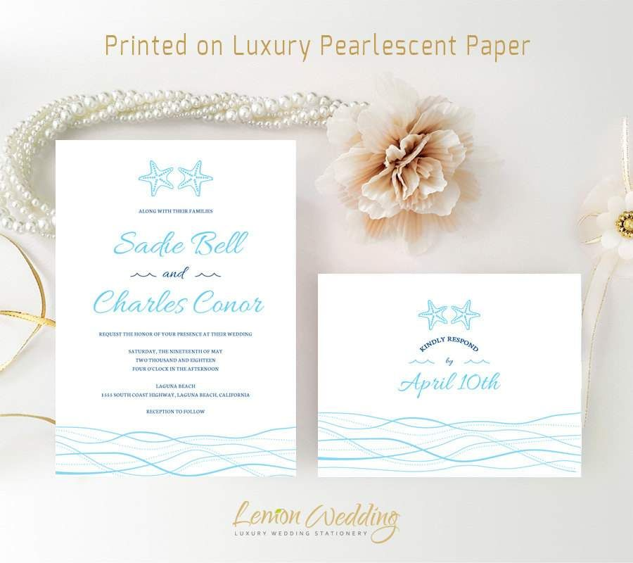 Beach Wedding Invitations Free Printable Bridal Wedding - Wedding invitation templates: beach theme wedding invitation templates free